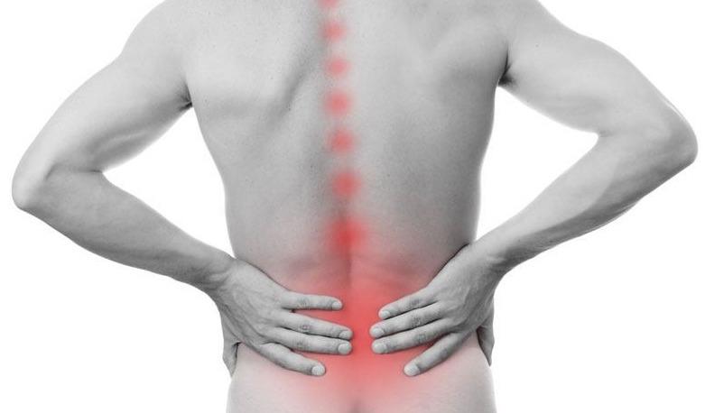 localisation de la lombalgie pouvant irradier au niveau du bassin et des dorsales