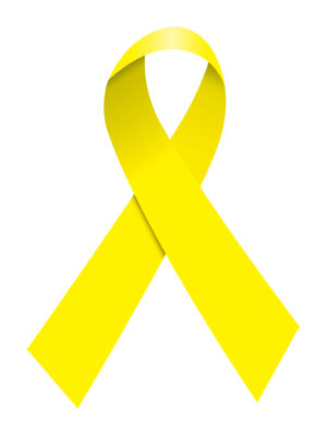 l'ostéopathe à paris porte le symbole de l'endométriose ruban jaune