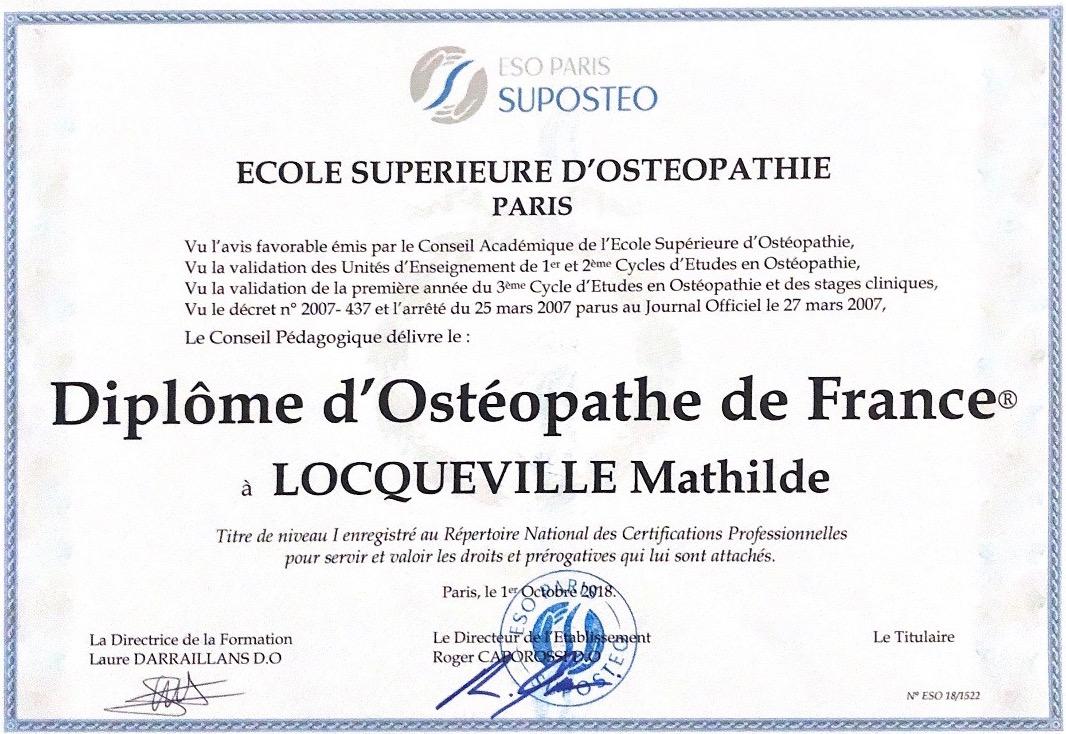Ostéopathe reconnu Paris